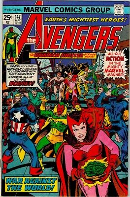 The Avengers #147 (May 1976, Marvel) NM High Grade app. Squadron Sinister Perez