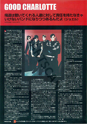Good Charlotte - Clippings From Japan Magazine Inrock 2005 - 2007