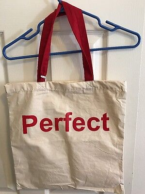 Perfect Tote Bag Red Beige New 100% For Charity