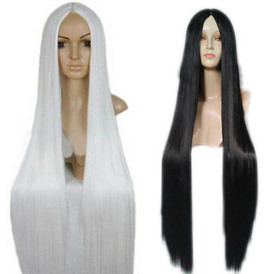 100Cm Anime Cosplay Wigs Women Long Straight Hair Wig Costume Party Halloween UK