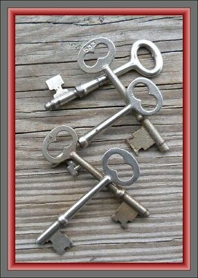 Five  Antique  Mortise Lock Skeleton Keys For Antique & Vintage Doors