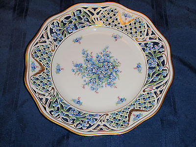 """Schumann Bavaria Reticulated """"Forget Me Not"""" Pattern Large Plate"""