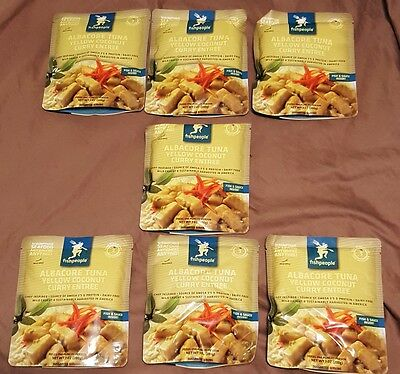 Seven Packs Fishpeople Albacore Tuna Yellow Coconut Curry Entree 7 Oz Ship Free