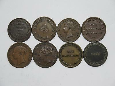 Ireland Dublin Galway Silk Cork Drapers One Farthing Token Coin Collection Lot