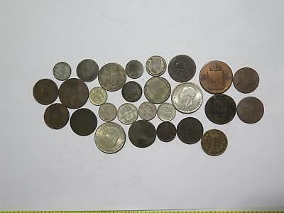 Norway Sweden Denmark Ore Skilling Courant Rigs Bank World Coin Collection Lot