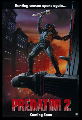 Predator 2 Movie Poster Print - 1990 - Action - 1 Sheet Artwork