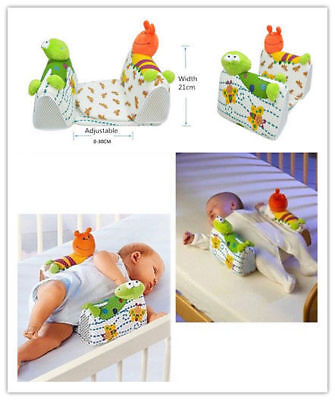 Anti-Rollover Toddler Bed Safe Support Pillow Cartoon Baby Positioner Age 0-12M