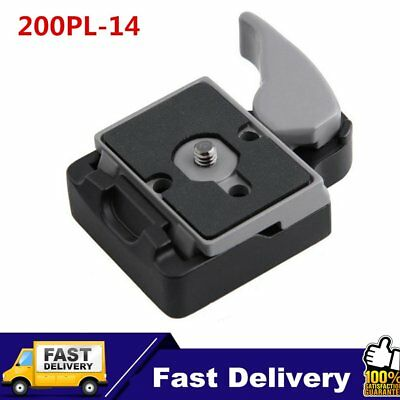 Camera 323 Quick Release Clamp Adapter for Manfrotto 200PL-14 Compat Plate U1