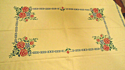 Spectacular Hand Embroidered Vintage Table Linen at least 100 years old