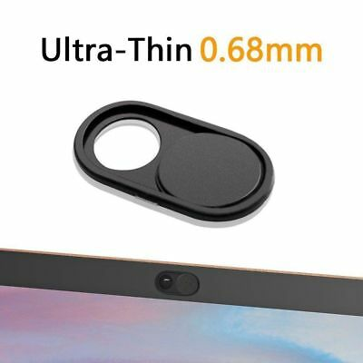 3* Black Sliding Webcam Cover Case Camera Lens Shield for iPhone Android Laptop