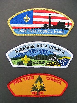 Boy Scouts Of America 3 Maine Pine Tree Katahdin Bsa Csp Council Shoulder Patch
