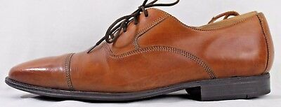 Men's Cole Haan Nike Air Size 9M Brown Leather Cap Toe Oxford Shoes
