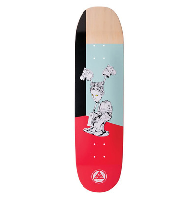 "Welcome Hedo Rick On Moontrimmer 2.0 Red 8.5"" Skateboard Deck"