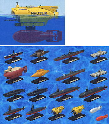 Takara SHIPS OF THE WORLD Series 2 Submarine set of 18 collection model figure