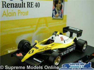 Alain Prost Renault Re40 Car Model Formula 1 Racing 1:43 Size One 1983 T34Z