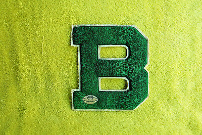 Antique Broadway(Va) High School Football Letter B( For Letter Jacket)50+ Years
