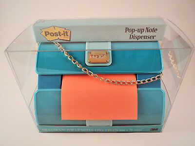 Post-it Pop-up Note Dispenser Fashion Collection Blue Clutch Purse  New In Box!!