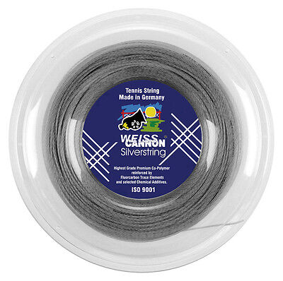 Weiss Cannon Silverstring 1.20mm (silver) 660ft 200m Tennis String Reel