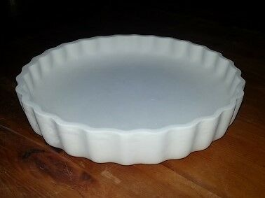 Ceramic Bisque Flan Dish 230mm approx. Ready to Glaze.