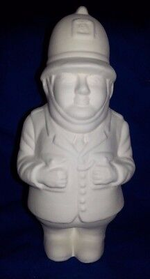 Ceramic bisque Policeman. Approx 175mm. Ready to paint or glaze.