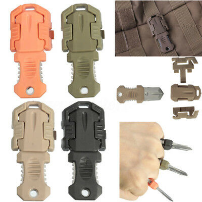 EDC Molle Military Beatles Tape Buckle Pocket Shiv Adapter Camping Survival Tool