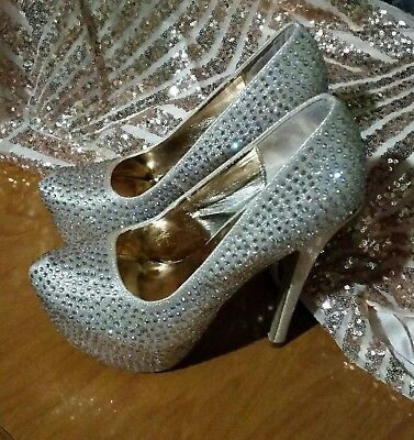 Rhinestone Stilleto Prom Shoes