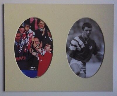 "ROY KEANE - MANCHESTER UNITED & IRELAND 1990's - SIGNED PICTURE 10"" x  8"" MOUNT"