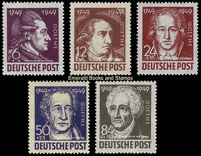 EBS Germany 1949 Soviet Occupation Zone Goethe Anniversary Michel 234-238 MH*