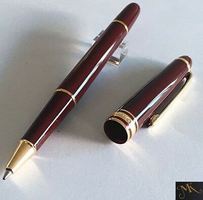 New MB 164 Wine Red Burgundy Gold Coated Classique Ballpoint Pen High Quality