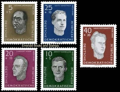EBS East Germany DDR 1960 Victims of Nazism Michel 752-756 MNH**