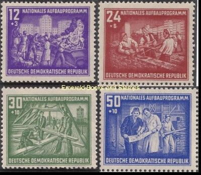 EBS East Germany DDR 1952 National Reconstruction Michel 303-306 MH*