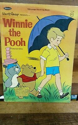 vintage unused Whitman winnie the pooh coloring book 1965
