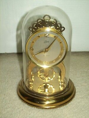 Vintage Small Schatz 8 Day Domed Mantel Clock.wind-Up Mechanical Fully Working
