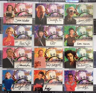 2005 Charlie And The Chocolate Factory 12 Autograph Cards (Johnny Depp)