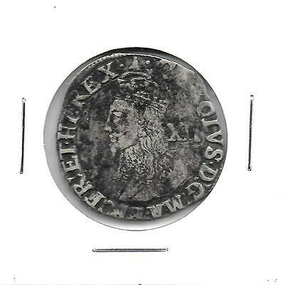 Great Britain ND(1625-49) King Charles I Shilling Hammered Silver Coin Toned VG+