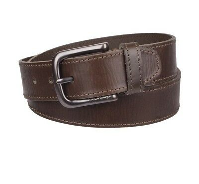 NWT Men's Columbia Heavy Stitched Leather Belt Brown