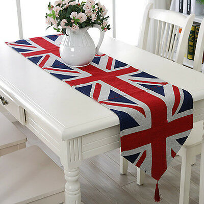 Union British UK Flag Table Runner Placemat Wedding Party Banquet Decor
