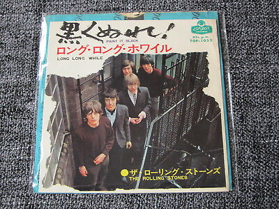 "The Rolling Stones Paint It Black Japan 7"" 45 Single - London Records Top 1053"