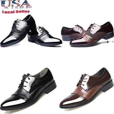 Business Formal Mens Dress Shoes 11 Oxfords Leather Shoes Lace Up Casual Loafers