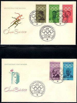 BRD 1968: FDC´s Olympia