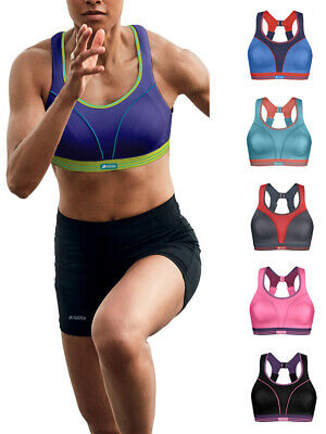 Shock Absorber Sports Bra High Impact Ultimate Sports Run Support Fitness S5044