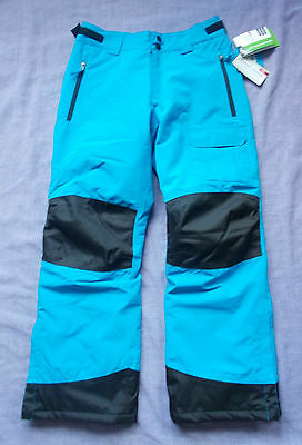 CRANE Waterproof Breathable Ski Snowboard Trousers - Blue - Age 13-14 Years