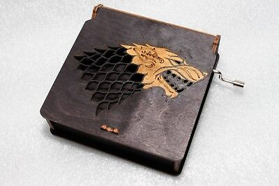 Winter Is Coming Stark Lannister Dany - Game Of Thrones Music Box Engraved Wood
