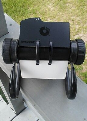 Rolodex Open Rotary Business Card File with 200+  2-1/4 by 4 inch Card Sleeves