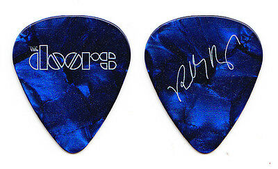 The Doors Robby Krieger Signature Promotional Blue Pearl Guitar Pick - 2017