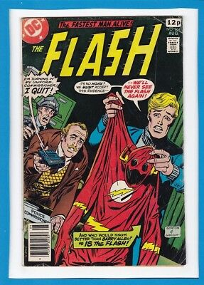 """The Flash #264_August 1978_Vg/f_""""the Golden Glider's Final Fling""""_Bronze Age Dc!"""