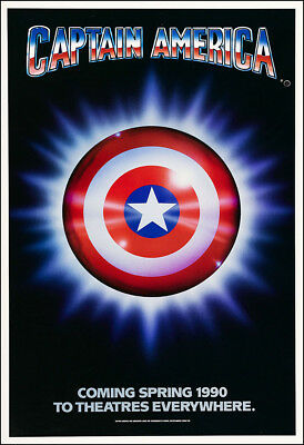 Captain America Movie Poster Print - 1990 - Action - 1 Sheet Artwork