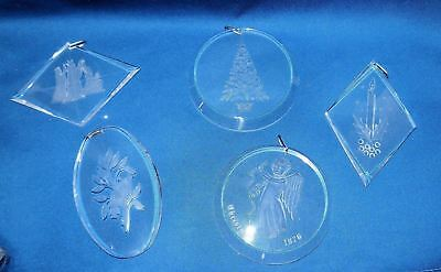 5 Vintage Ball Corp Ornaments Partridge Candle Angel Christmas Tree