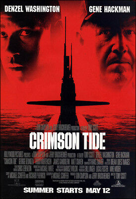 Crimson Tide Movie Poster Print - 1995 - Action - 1 Sheet Artwork