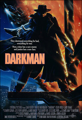 Darkman Movie Poster Print - 1990 - Action - 1 Sheet Artwork